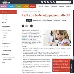 7 à 8 ans: le développement affectif