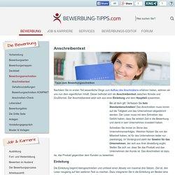Bewerbung > Anschreiben > Einleitungssatz, Haupteil und Grußformel