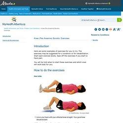Knee (Pes Anserine) Bursitis: Exercises