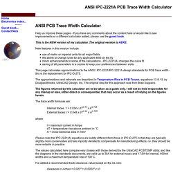 ANSI PCB Track Width Calculator