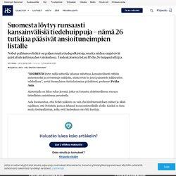 Suomesta löytyy runsaasti kansainvälisiä tiedehuippuja – nämä 26 tutkijaa pääsivät ansioituneimpien listalle