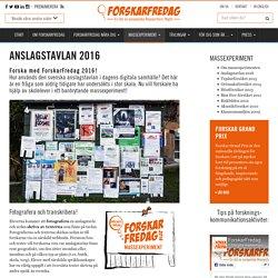 Anslagstavlan 2016 - ForskarFredag