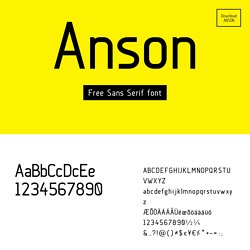 Anson font - By Mikko Nuuttila