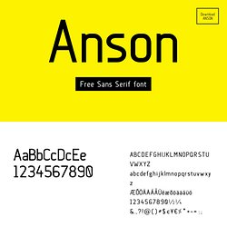 Anson font - By Mikko Nuuttila