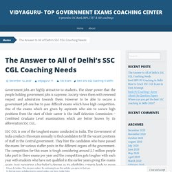 The Answer to All of Delhi's SSC CGL Coaching Needs