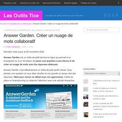 Answer Garden. Créer un nuage de mots collaboratif – Les Outils Tice