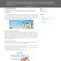 Lead Answer: Go for best insurance leads with the best insurance company