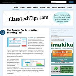 The Answer Pad Interactive Learning Tool