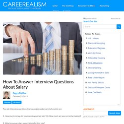 How To Answer Salary Interview Questions