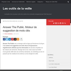 Answer The Public. Moteur de suggestion de mots clés