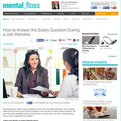 how to answer the salary question in an interview