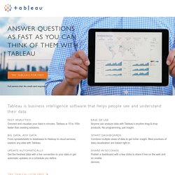 Answer questions as fast as you can think of them with Tableau