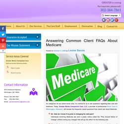 Answering Common Client FAQs About Medicare
