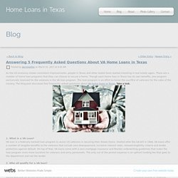 Answering 5 Frequently Asked Questions About VA Home Loans in Texas