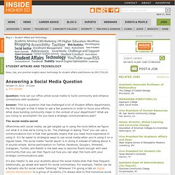 Answering a Social Media Question