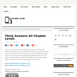 Think Answers All Chapter Levels