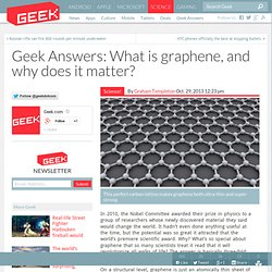 Answers: What is graphene, and why does it matter?