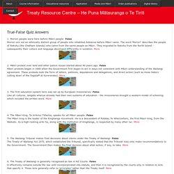 Treaty Resource Centre – He Puna Mātauranga o Te Tiriti