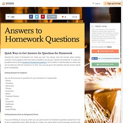 Answers to Homework Questions