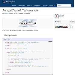 Ant and TestNG Task example