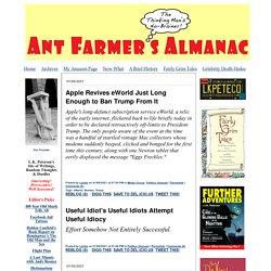 Ant Farmer's Almanac