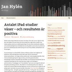 Antalet iPad-studier växer – och resultaten är positiva