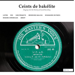 From Alger to Antananarivo – A selection of 78rpm records from Africa – Ceints debakélite