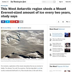 This West Antarctic region sheds a Mount Everest-sized amount of ice every two years, study says