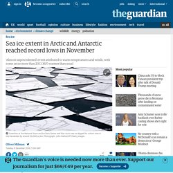 Sea ice extent in Arctic and Antarctic reached record lows in November