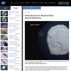 Antarctic Sea Ice Reaches New Record Maximum