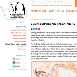 Climate Change and the Antarctic - Antarctic and Southern Ocean Coalition