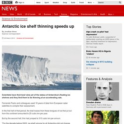 Antarctic ice shelf thinning speeds up - BBC News