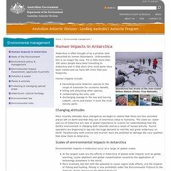 Human impacts in Antarctica