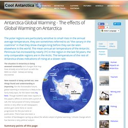 Antarctica, the Effects of Global Warming