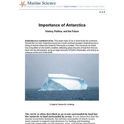Antarctica: Importance