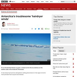*****Fohn winds / Foen winds:Antarctica's troublesome 'hairdryer winds'