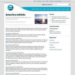 Antarctica weblinks