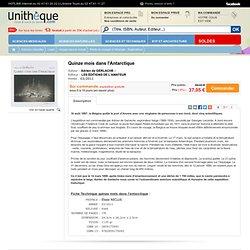 Quinze mois dans l'Antarctique , Amateur, : Unitheque.com : Adrien de GERLACHE: 9782859175092 Livre