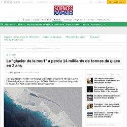 Antarctique : une énorme cavité se creuse sous un glacier