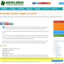 Antelope Canyon Upper et Lower - Arizona - Guide de voyage Usa Ouest américain - Arizona Dream