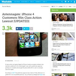 Antennagate: iPhone 4 Customers Win Class Action Lawsuit