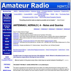 ANTENNAS & AERIALS 4 - Notes and Queries - Amateur Radio by M0MTJ