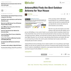 TV: AntennaWeb Finds the Best Outdoor Antenna for Your House