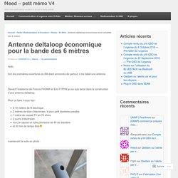 Antenne deltaloop économique pour la bande des 6 mètres