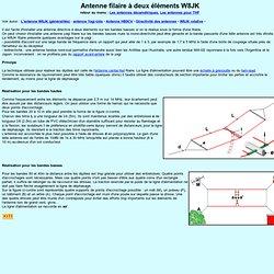 Antenne filaire à deux éléments : la W8JK