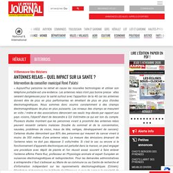 ANTENNES RELAIS – QUEL IMPACT SUR LA SANTE ? – Le Petit Journal