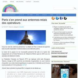 Paris s'en prend aux antennes relais des opérateurs