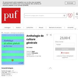 Anthologie de culture générale - Éric Cobast - Major - Format Physique et Numérique