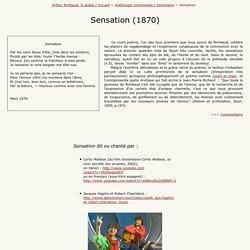 Rimbaud, Sensation - Petite Anthologie rimbaldienne commentée.