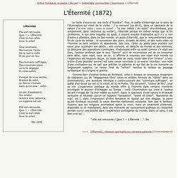 """Rimbaud, """"L'Éternité"""" - Petite Anthologie rimbaldienne commentée."""